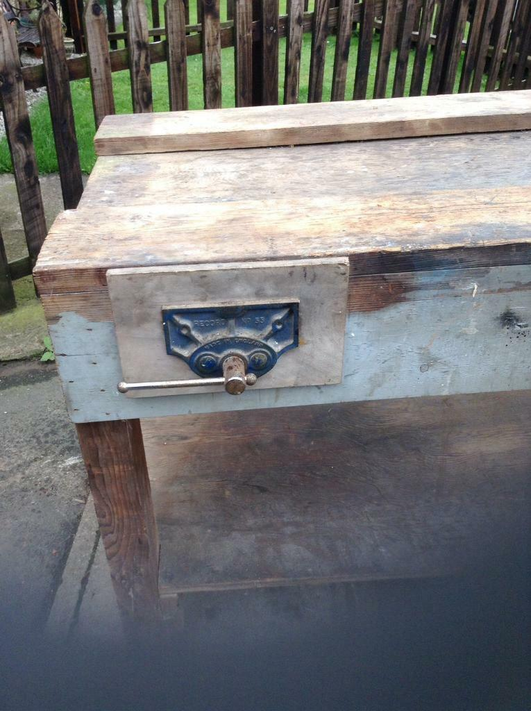 Vintage carpenters workbench £100