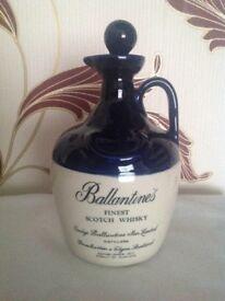 Vintage Ballantines 1970's whiskey bottle