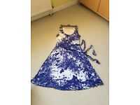 Lovely pretty blue Monsoon ladies dress (12)
