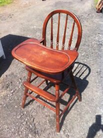 Pine spindle back childs dining chair in great solid and sturdy condition