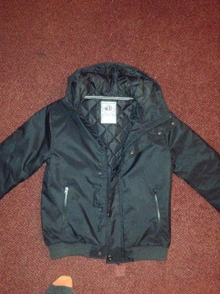 Next Black Winter Bomber Jacket - Age 15 (new without tag)