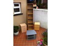 IKEA Billy bookcase, 2 drawer units & TV stand