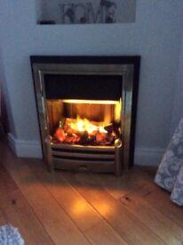 Dimplex OptiMyst Electric Fire. ( Cavendish CSH20 ) Brass Inset.