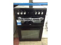 Beko 60cm double oven electric cooker. £340 new/graded 12 month Gtee
