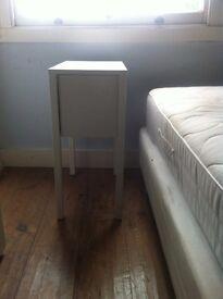 Bedroom Furniture for sale, Desk, bedside cabinet and wheelie chair