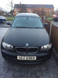 Black BMW One Series - excellent condition