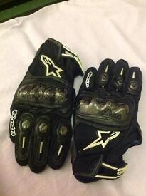 As new Alpinestars spx gloves size L