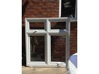 UPVC double-glazed window 121.5 cm wide x 136.5 cm high. Two openers.