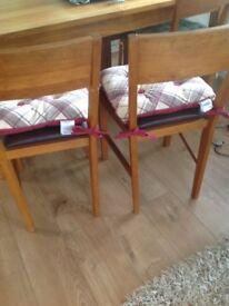 2 Laura Ashley chair cushions
