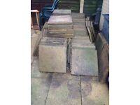 Used paving slabs 18x18 quantity 117