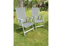 2x Aluminium folding chairs