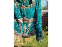 *Offers accepted QUICK SALE* Green Designer Bridal Wedding Dress Lengha size 12-14