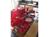 Huge Selection of Red Kitchen Items / Accessories