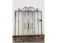 Black wrought iron garden gate 80cm wide and 103cm high