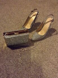 Shoes and bag set, New Years Eve sorted - size 5