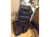 Technics seperate system 3cd changer amp original speakers and remote control