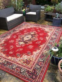 2 Kashmir style 100% wool rugs for sale