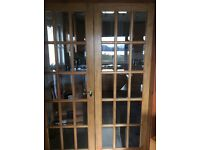 Double hardwood glass doors