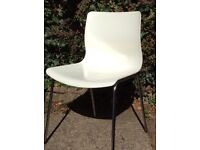 4 white IKEA dining room chairs, excellent condition.