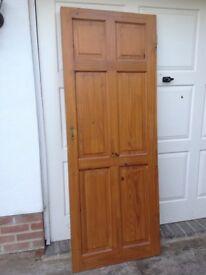 Antique Pine Interior Door