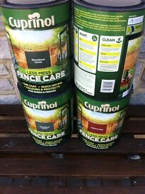 New 5 litre cans Cuprinol fence/ shed paint