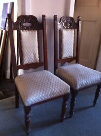 2 Antique Chairs for Refurbishment / Can Deliver