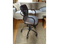 IKEA Gregor Chair in black with grey seat pad, excellent condition.