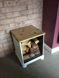 Shabby chic style indoor log holder
