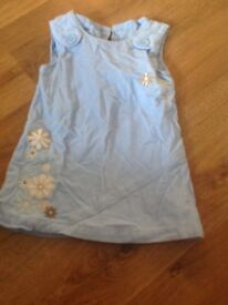 Baby blue cord dress Age 12-18 months