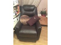Rise and Recline Leather Chair - rise & recline brown leather chair. Very good conditon, barely used