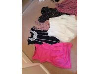 Bundle of Size 8 Dresses, tops and Pant suit
