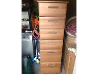 Tall boy - 6 drawer chest of drawers