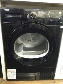 Beko black 8kg condenser dryer. RRP £329 12 month Gtee