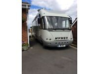 2001 Hymer 820s 2 berth, rear garage, UK registered, left hand drive