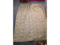 Pencil pleat lined curtains duck egg blue