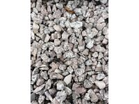 20 mm silver grey granite garden and driveway chips/stones
