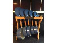 Le Crueuset Pan Set & Stand (SOLD)