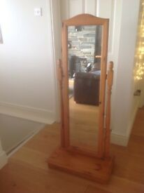 Solid pine tall freestanding mirror