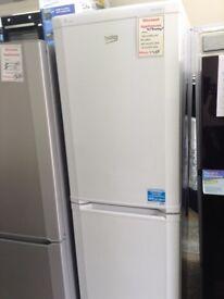 Beko tall white fridge freezer. 5 draw freezer. 12 month Gtee
