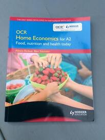 OCR HOME ECONOMICS FOR A2 NEVER USED