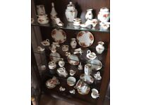 Royal Albert country roses asst, teatop, milk sugar bowls2 cups saucers plates bud vases. Perfect