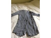 Jack wills navy and white stripe play suit size 6