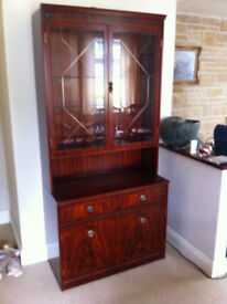Mahogany Style Display Cabinets, very good condition,