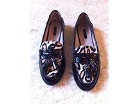 Zara ladies leopard print loafers