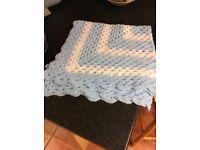 Lovely handmade crochet blanket for baby boy