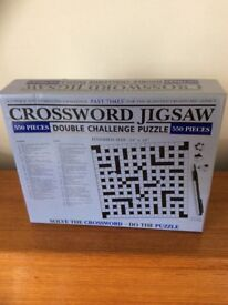 Crossword Jigsaw Puzzle. 550 pieces. Never used