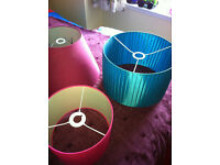 Lampshades x 3 - all in good condition.