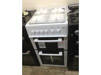 Flavel 50cm gas cooker. White. Price £239. New/graded 12 month Gtee