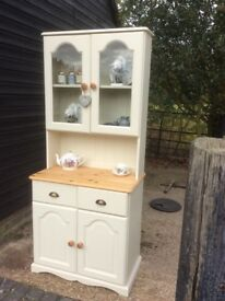 Shabby Chic Solid Pine Glazed Dresser Painted in Farrow and Ball