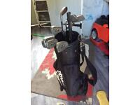 Golf clubs balls bag and trolly for sale